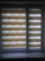 Рулонные шторы день ночь с рисунком